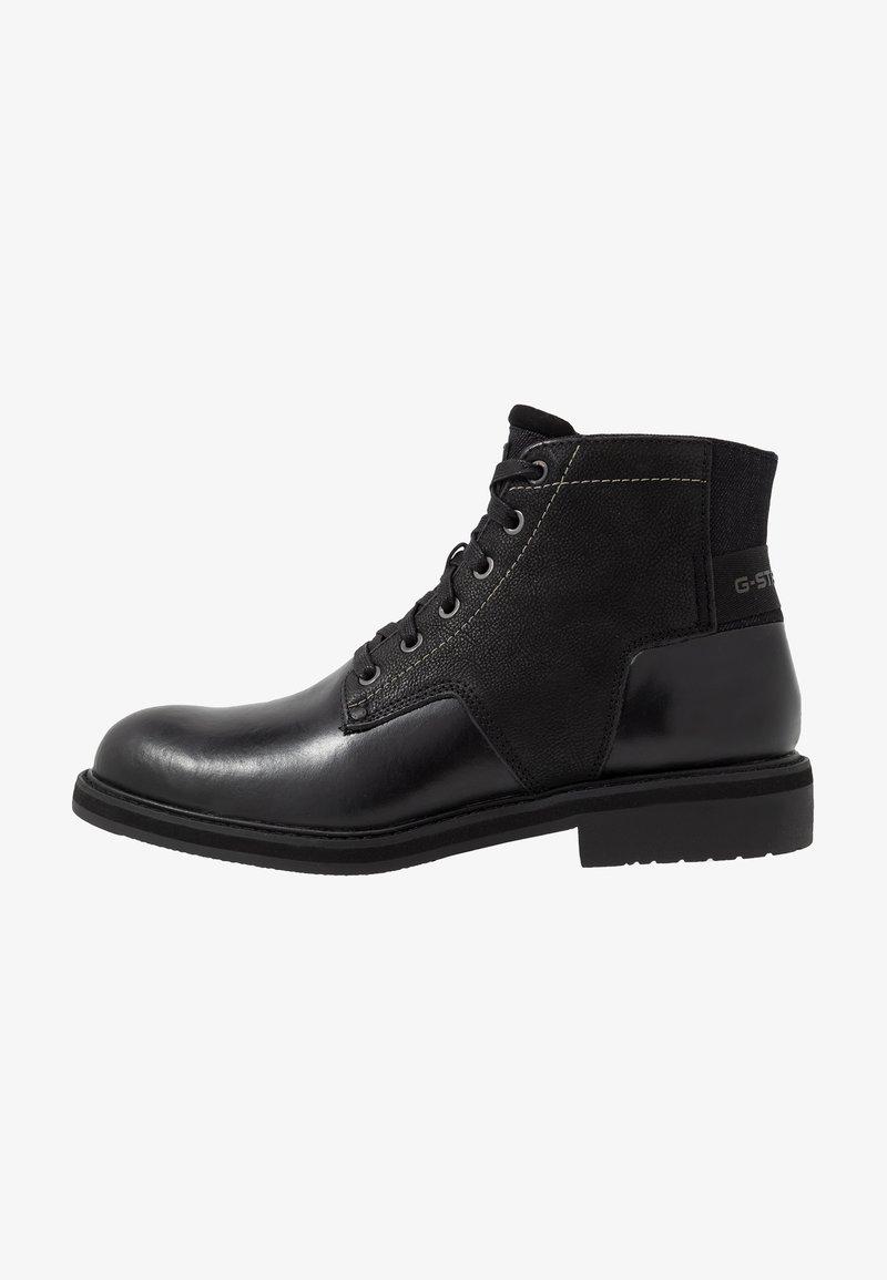 G-Star - GARBER DERBY BOOT - Šněrovací kotníkové boty - black