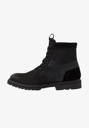 POWELL Y BOOT - Lace-up ankle boots - dark black