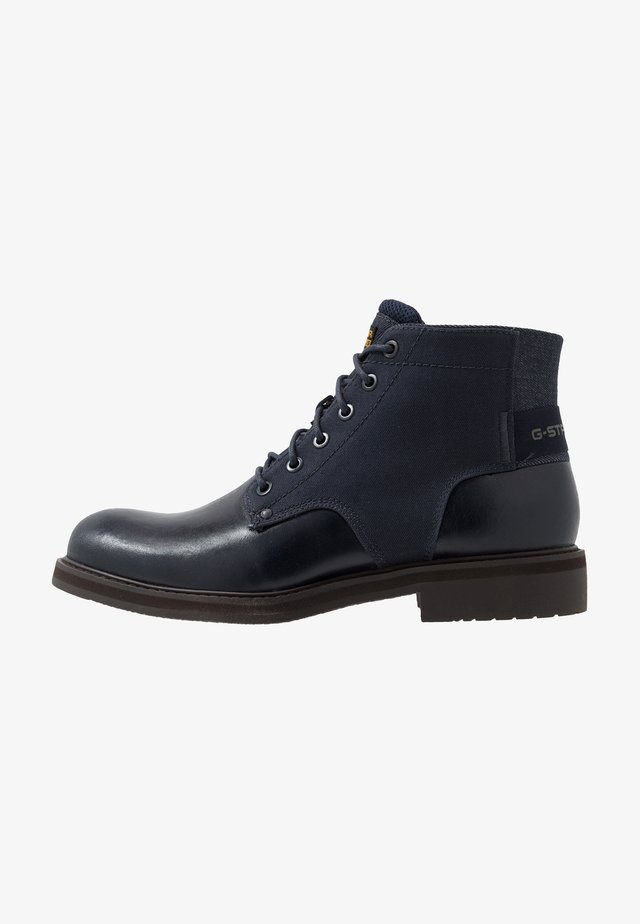 GARBER DERBY BOOT - Bottines à lacets - dark saru blue