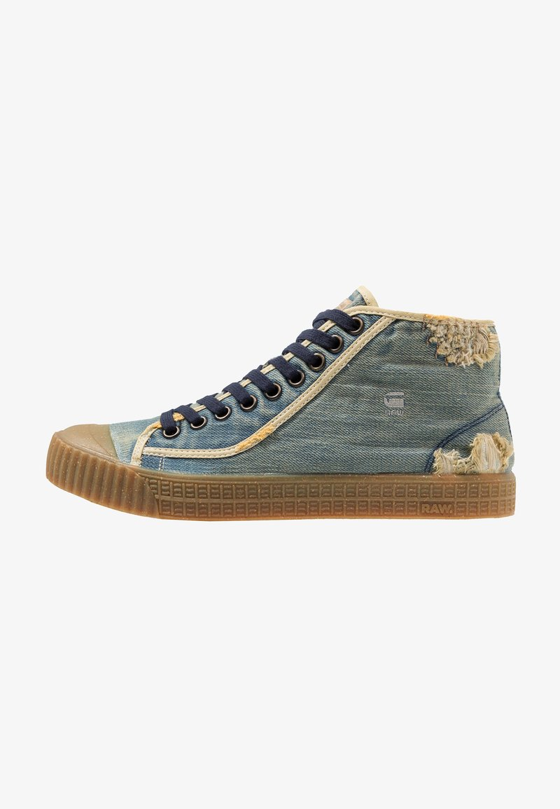 G-Star - ROVULC 50 YEARS DENIM MID - Sneakers hoog - light aged