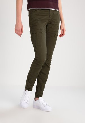 ROVIC MID SKINNY  - Cargo trousers - forest night