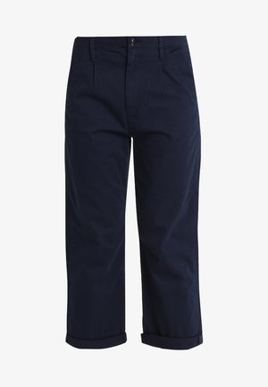 BRONSON PLEAT 3D MID LOOSE CHINO WMN - Pantalones - sartho blue 6067