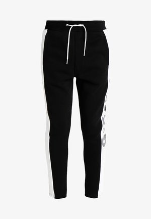BILBI ART SLIM CROPPED SW PANT WMN - Tracksuit bottoms - black/white