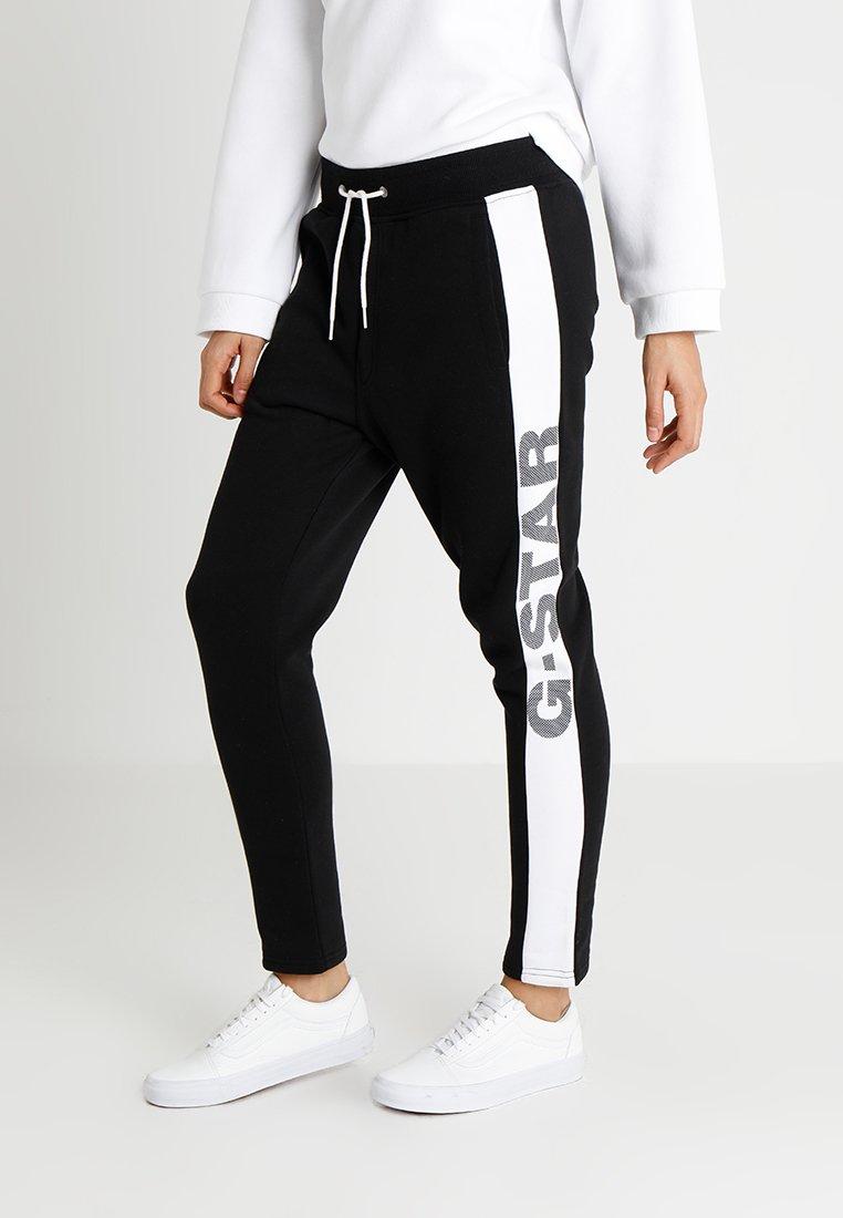 G-Star - BILBI ART SLIM CROPPED SW PANT WMN - Jogginghose - black/white
