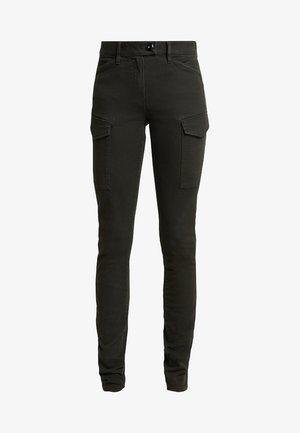 BLOSSITE ARMY HIGH SKINNY - Pantalon classique - dark green