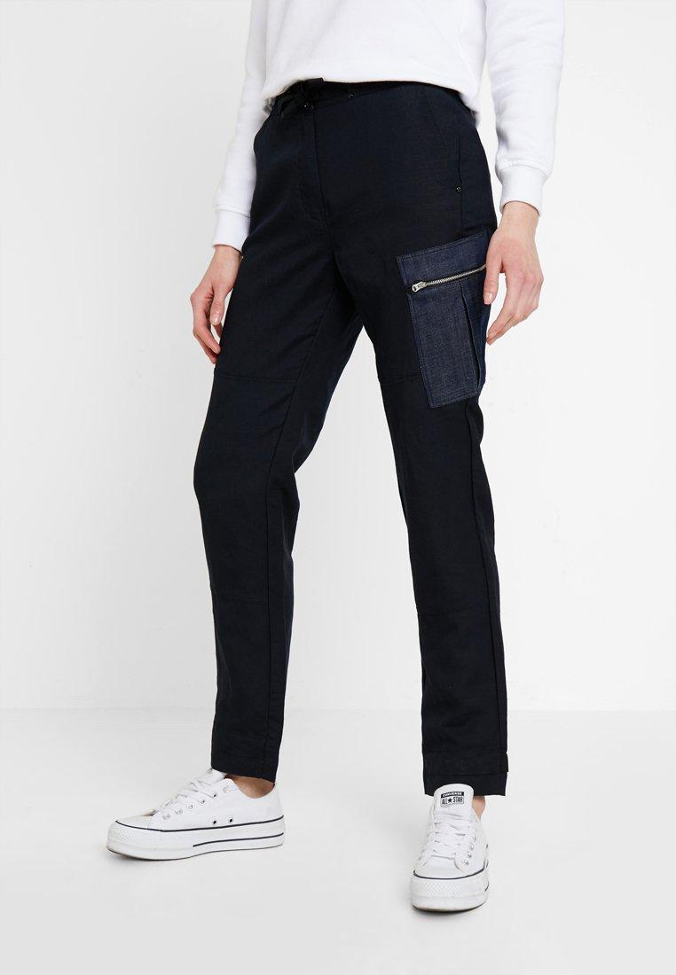G-Star - FELDSPAR HIGH STRAIGTH CARGO - Pantalon classique - mazarine blue