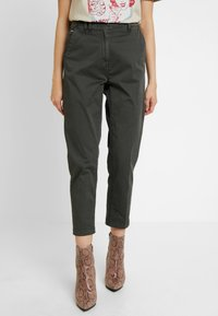 G-Star - PAGE MID BAGGY BF ANKLE CHINO WMN - Chinos - premium micro str twill od - 0