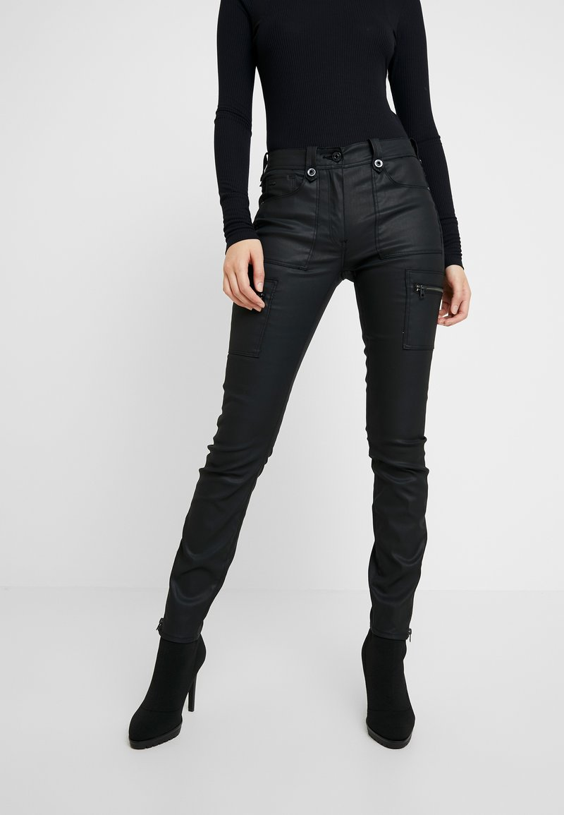 G-Star - KERF CARGO HIGH SKINNY WMN - Trousers - dk black