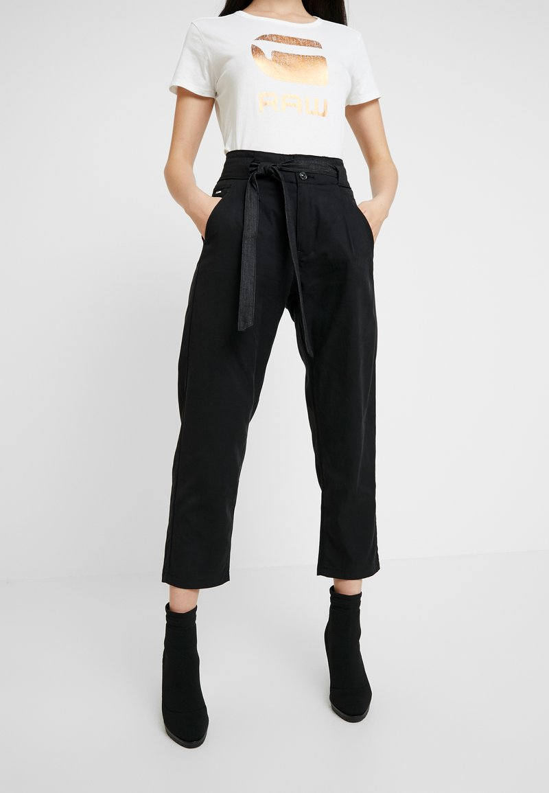 G-Star - CHISEL MID ANKLE - Trousers - black