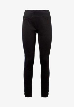 HIGH JEGGING ANKLE - Leggings - black