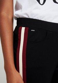 G-Star - STRIPE SKINNY PANT - Teplákové kalhoty - black - 4