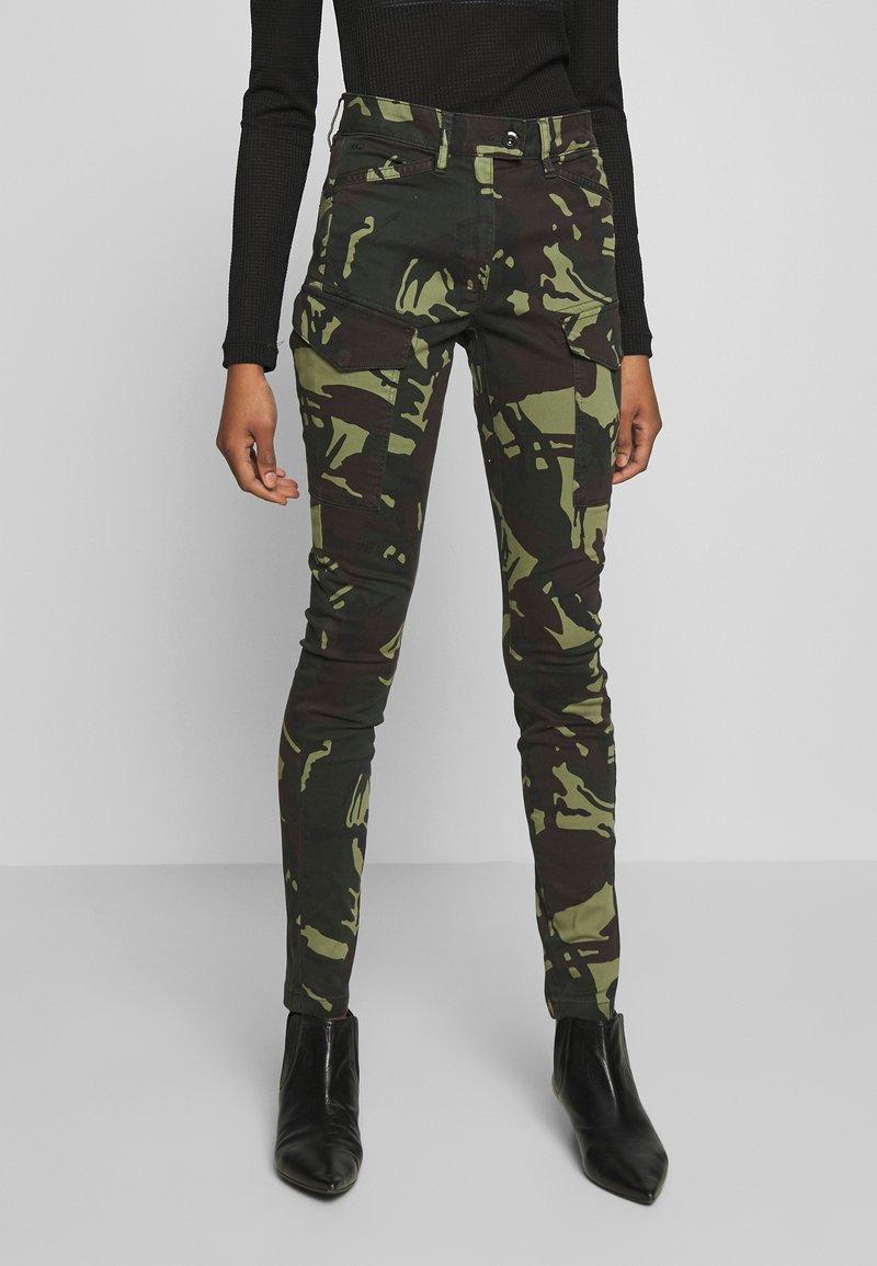 G-Star - BLOSSITE G-SHAPE ARMY HIGH SKINNY - Cargo trousers - khaki