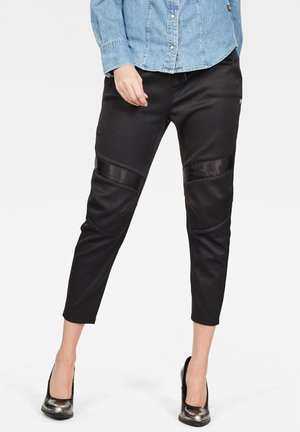 MOTAC 3D TAPERED CROPPED - Trousers - dk black
