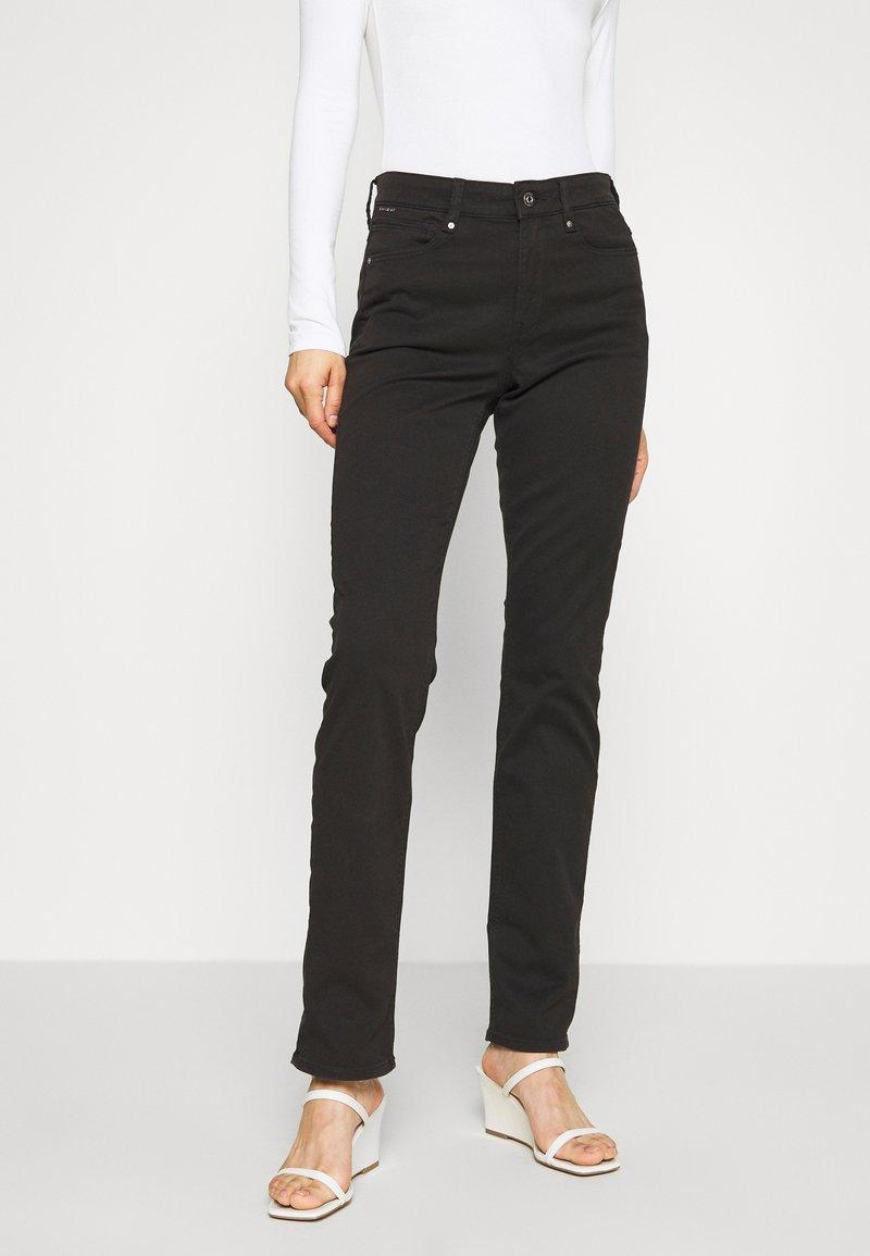 G-Star - 4311 MOTO HIGH STRAIGHT WMN - Straight leg jeans - black