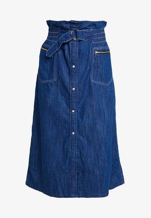 TACOMA ZIP PAPERBAG SKIRT - A-line skirt - dark blue
