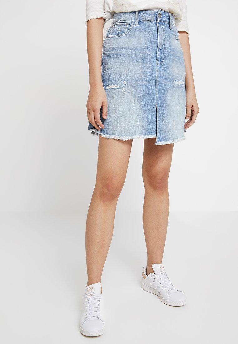 G-Star - 3301 FRINGE SKIRT - A-line skirt - vintage aged destroy