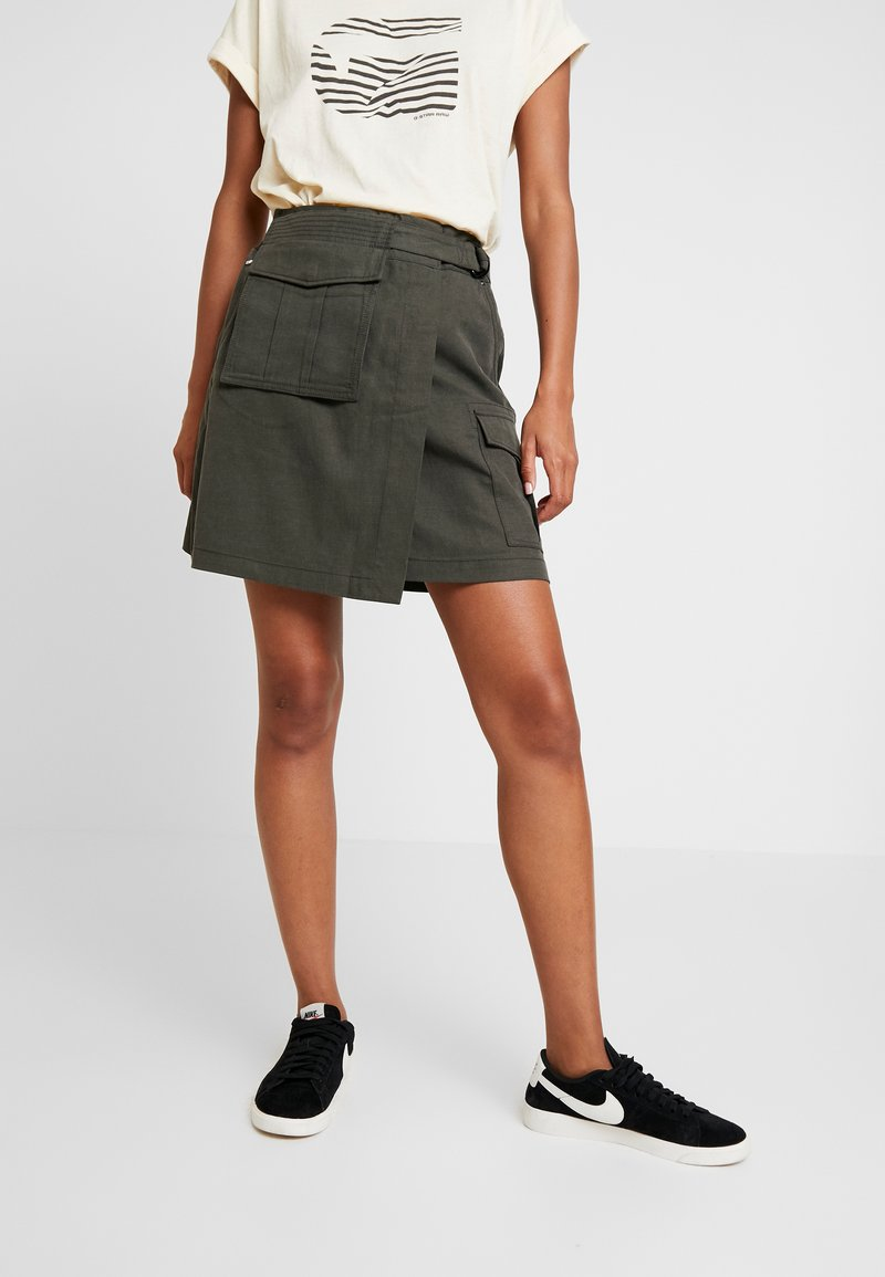 G-Star - ROVIC WRAP CARGO SKIRT - A-Linien-Rock - asfalt