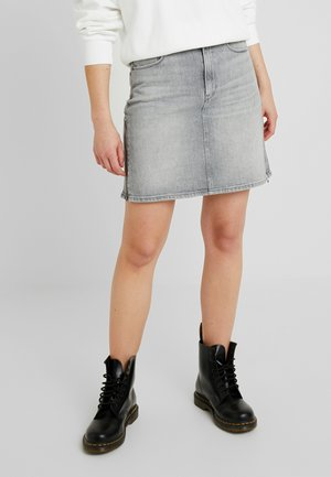 3301 ZIP SKIRT - A-linjekjol - lavas grey stretch denim