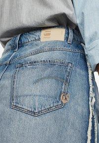 G-Star - 3301 Fringe Midi - Gonna di jeans - blue denim - 3