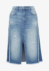 G-Star - 3301 Fringe Midi - Gonna di jeans - blue denim - 4