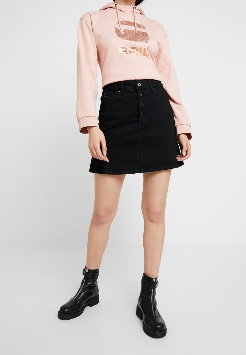 G-Star - NAVIK SKIRT POP - A-linjekjol - pitch black