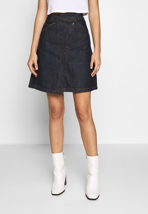 WRAP SKIRT - A-line skirt - raw denim