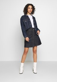 G-Star - WRAP SKIRT - Jupe trapèze - raw denim - 1