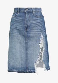 G-Star - 3301 A-LINE MIDI RIPPED  - A-linjainen hame - faded ripped shore - 4
