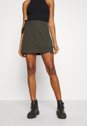 UTILITY WRAP MINI SKIRT - A-line skirt - olive