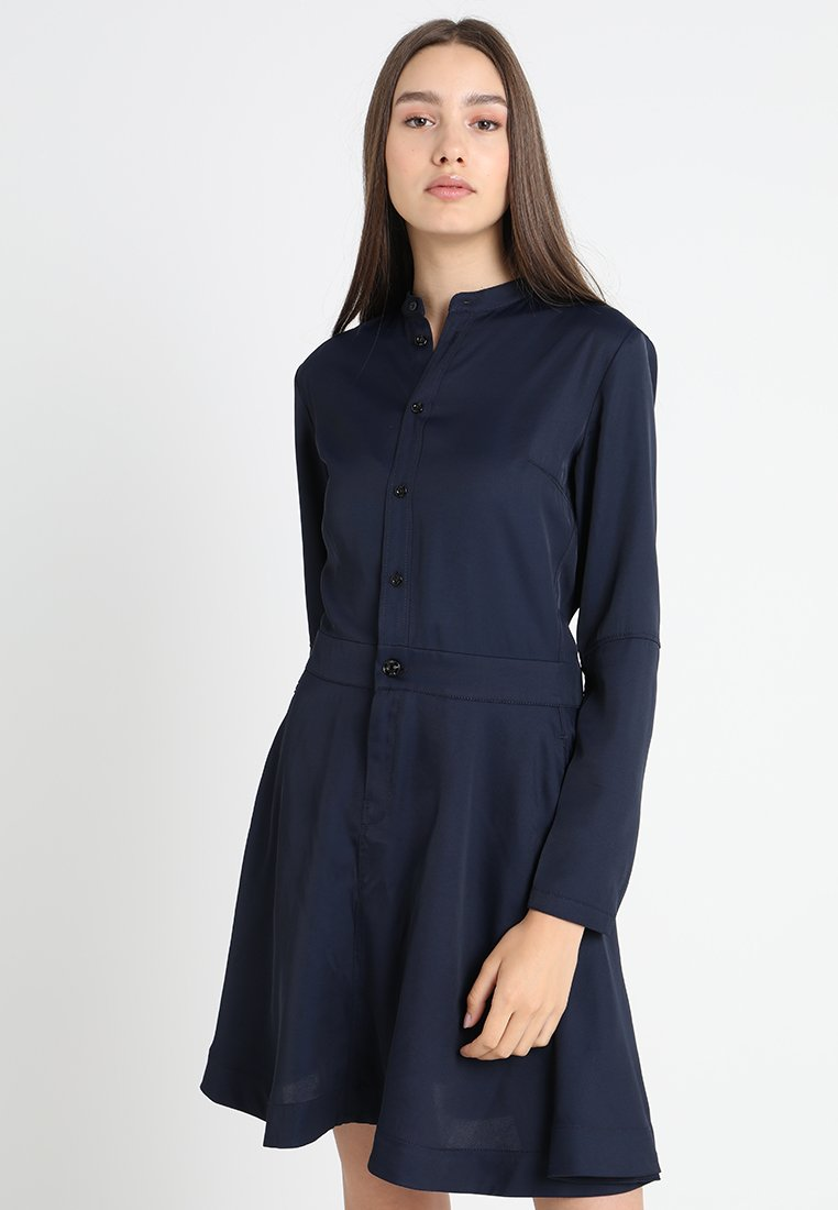 G-Star - CORE FLARE DRESS L/S - Blusenkleid - sartho blue-6067