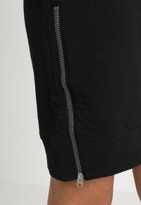 G-Star - ILOU ZIP HDD SW DRESS WMN L/S - Korte jurk - dk black - 5