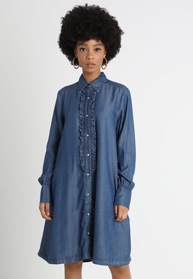 G-Star - DELINE FRILL DRESS  - Blusenkleid - medium aged