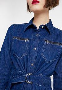 G-Star - TACOMA ZIP STRAIGHT FLARE DRESS - Denim dress - rinsed denim - 5