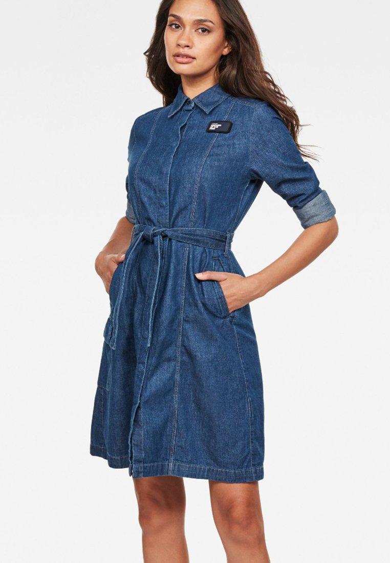 G-Star - Robe en jean - blue denim