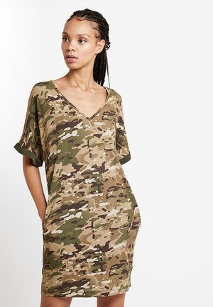 JOOSA - Jersey dress - khaki/green