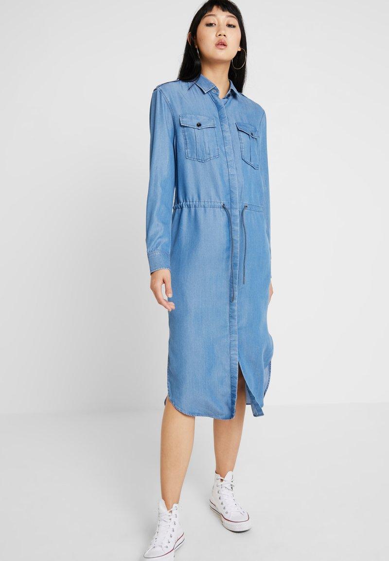 G-Star - ROVIC MAXI SHIRT DRESS L\S - Skjortklänning - lt aged