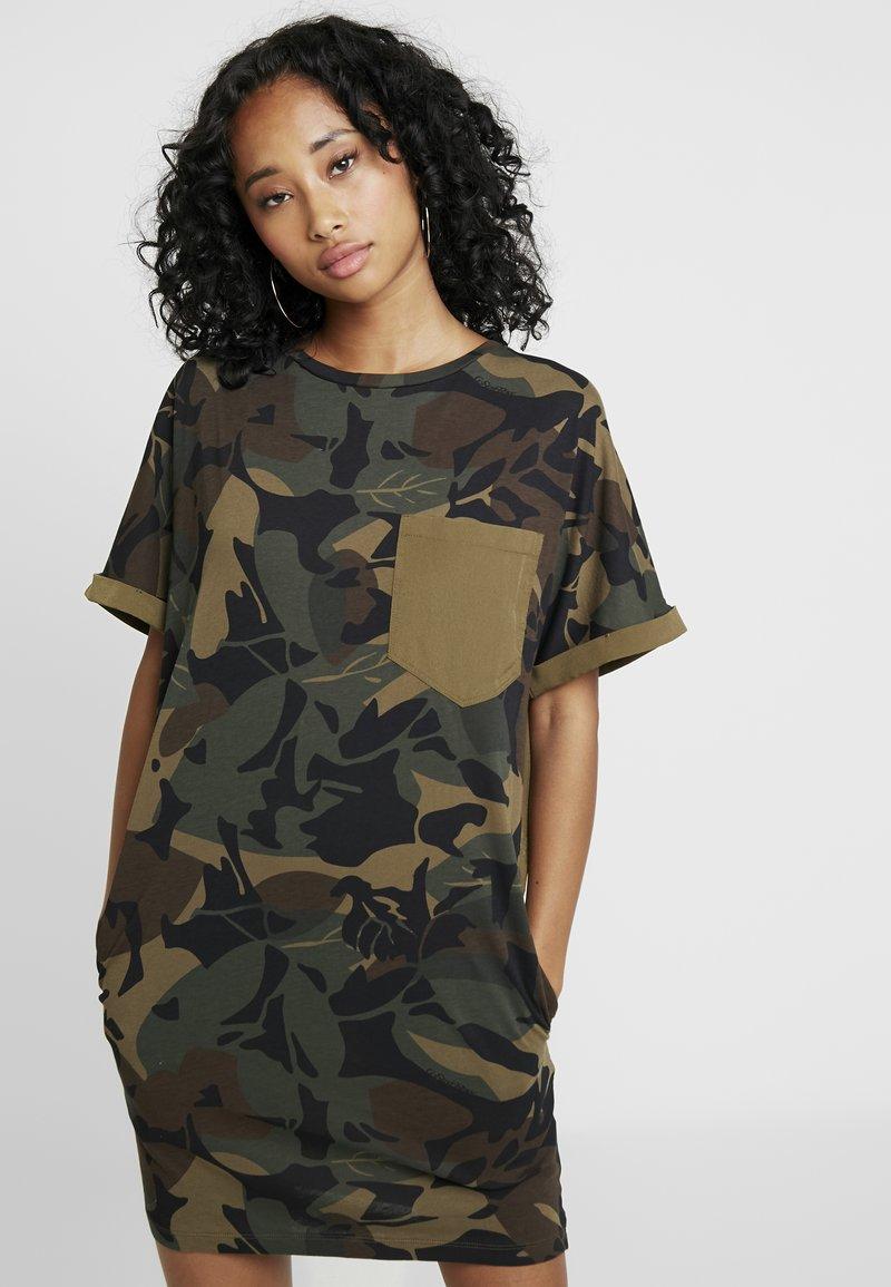 G-Star - MOXEL PKT DRESS WMN S\S - Jersey dress - wild olive/forest night