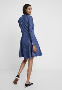 G-Star - BRISTUM SLIM FLARE FRINGE DRESS - Denim dress - rinsed - 3