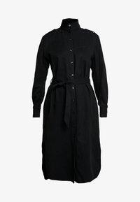 G-Star - LANC MIDI SHIRT DRESS L\S - Košilové šaty - dk black - 4