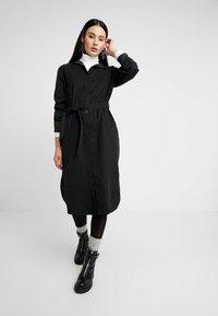 G-Star - LANC MIDI SHIRT DRESS L\S - Košilové šaty - dk black - 1