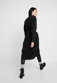 G-Star - LANC MIDI SHIRT DRESS L\S - Košilové šaty - dk black - 2