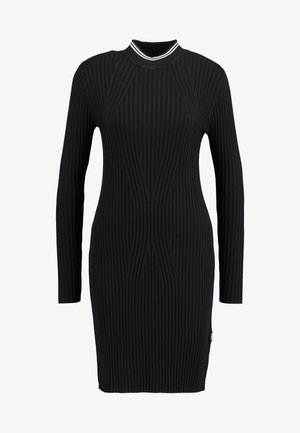 LYNN MOCK TURTLE - Shift dress - black