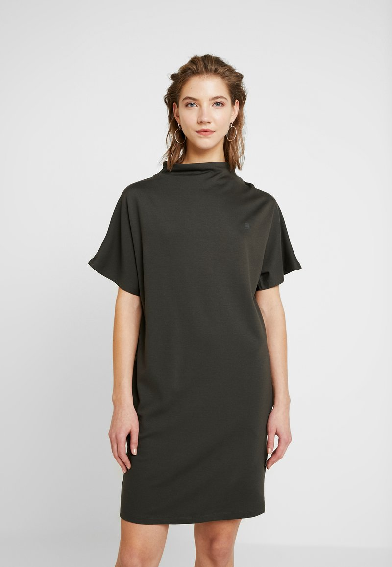 G-Star - JOOSA DRESS FUNNEL WMN S\S - Jerseyjurk - green