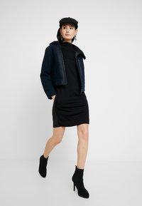 G-Star - JOOSA DRESS FUNNEL WMN S\S - Vestito di maglina - dark black - 1