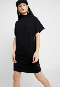 G-Star - JOOSA DRESS FUNNEL WMN S\S - Vestito di maglina - dark black - 0