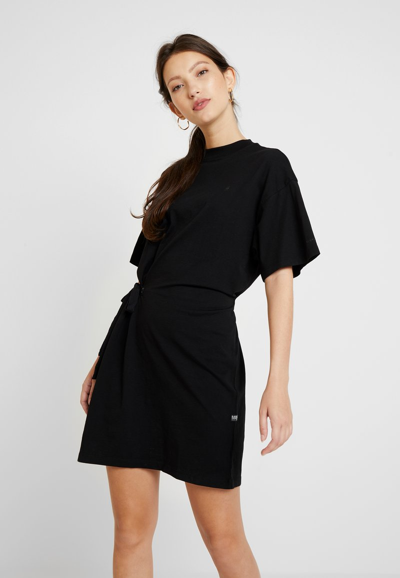 G-Star - DISEM LOOSE DRESS - Jerseyklänning - dk black