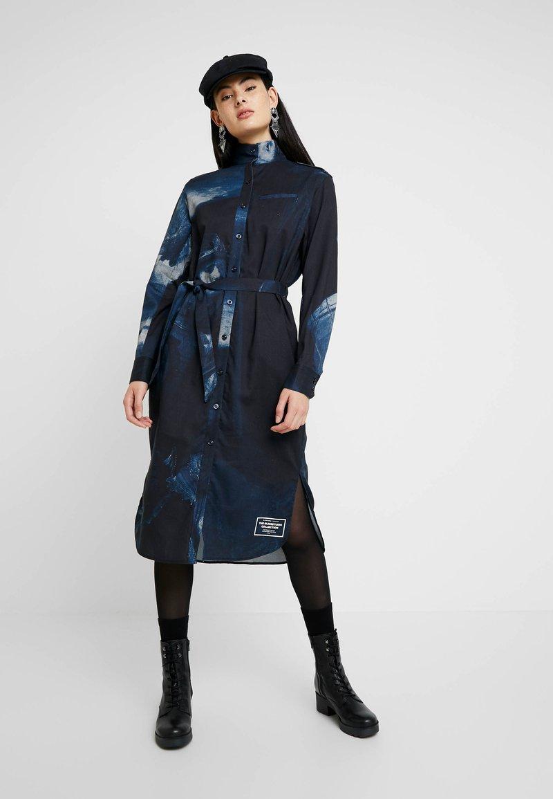 G-Star - LANC MIDI - Shirt dress - imperial blue/mazarine blue ao