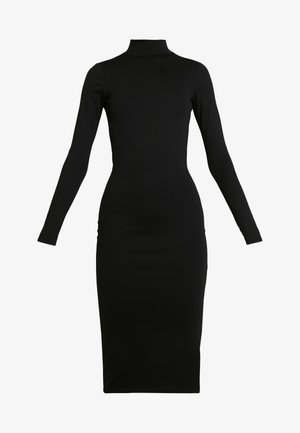 LYNN MOCK TURTLE DRESS - Shift dress - black