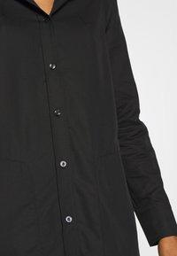 G-Star - MILARY LONG SLEEVE SHIRT DRESS - Korte jurk - dark black - 5