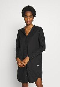 G-Star - MILARY LONG SLEEVE SHIRT DRESS - Korte jurk - dark black - 0